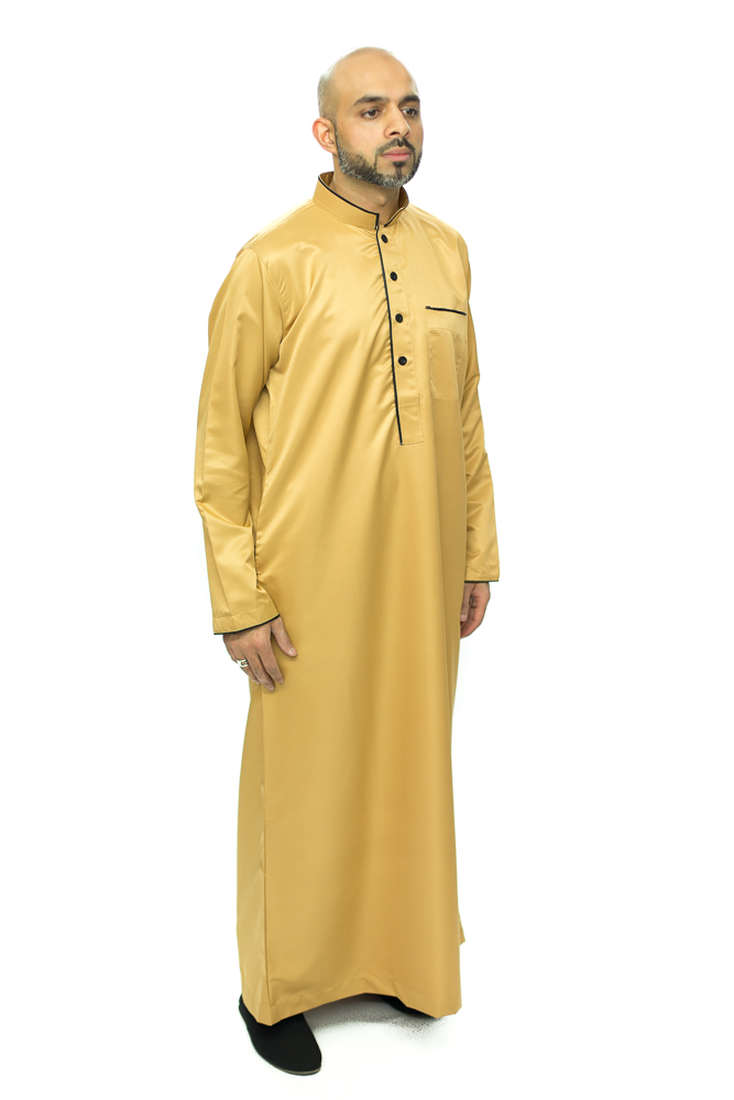 Gold New Pipping Coller Jubba