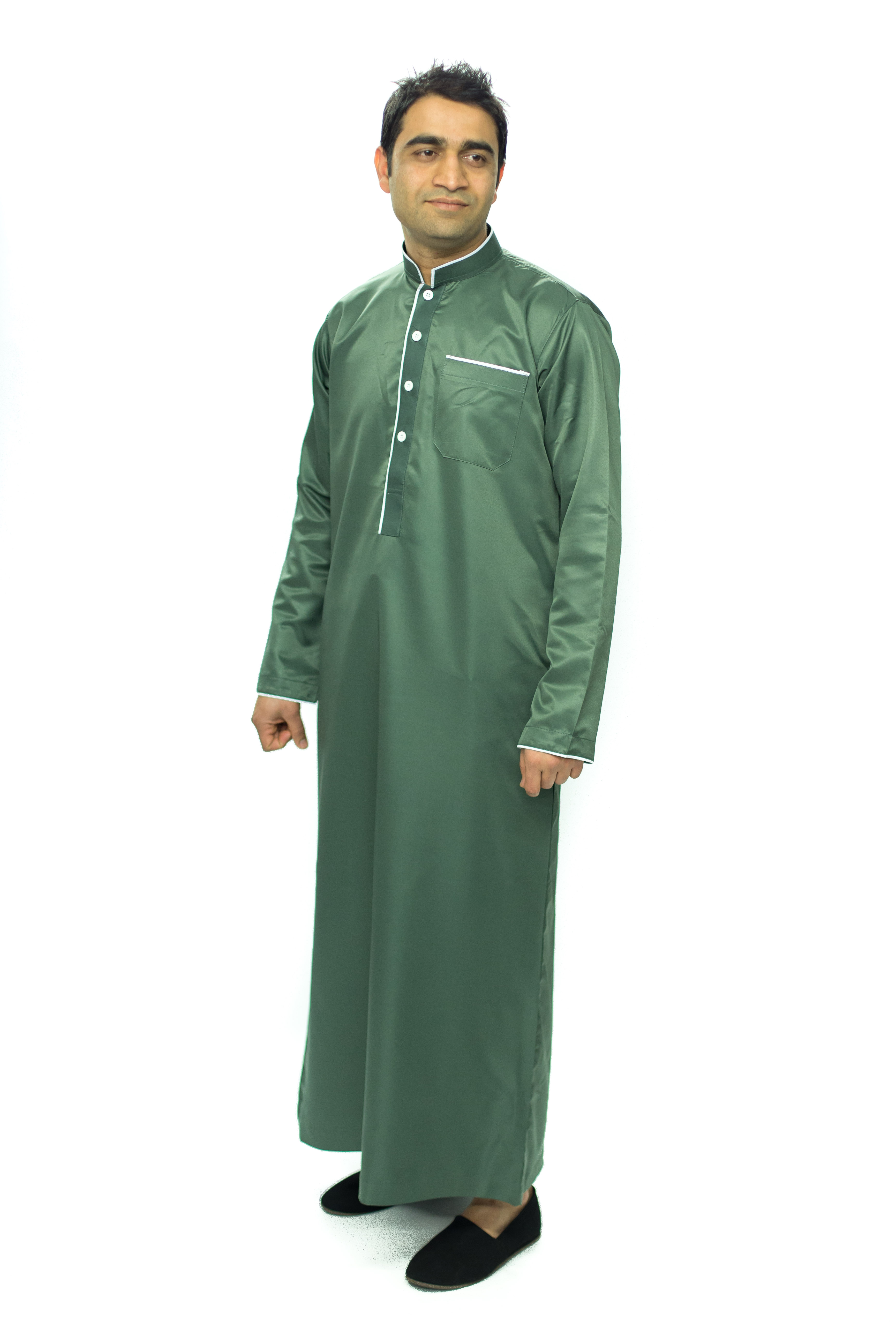 Green New Mens Pipping Jubba