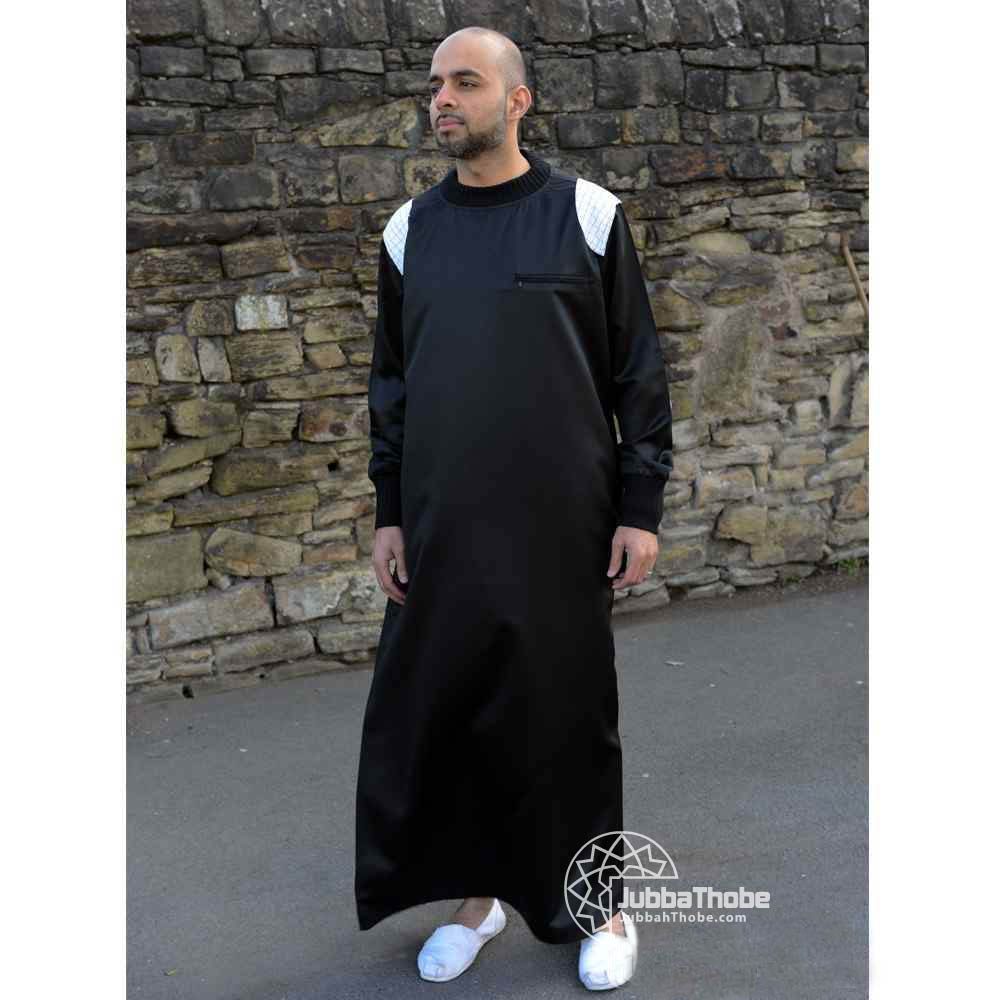 Mens Patch Black White Jubba