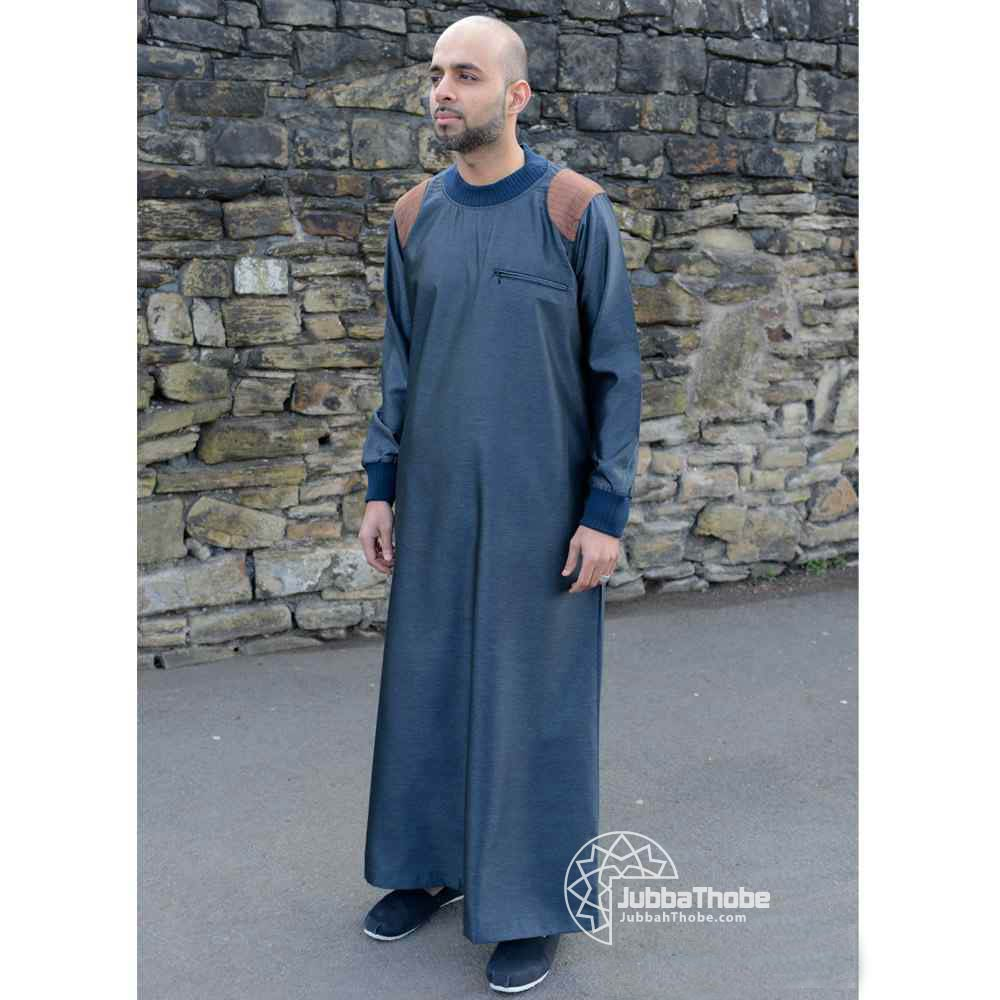 Mens Patch Blue Brown Jubba