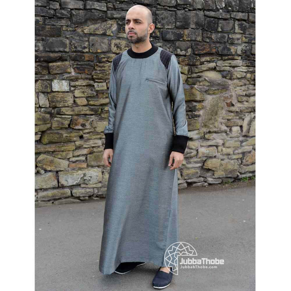 Mens Patch Silver Black Jubba