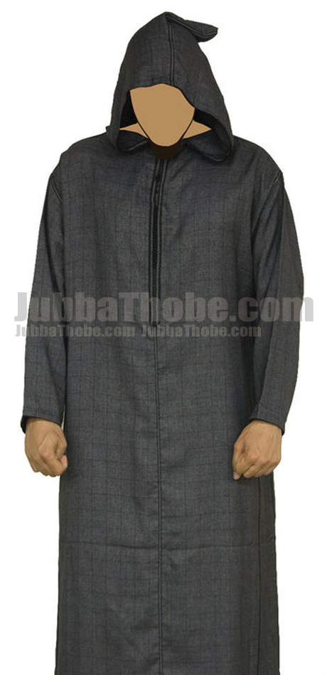 Morrocan Men Stylish Jubba Thobe With Hoodie