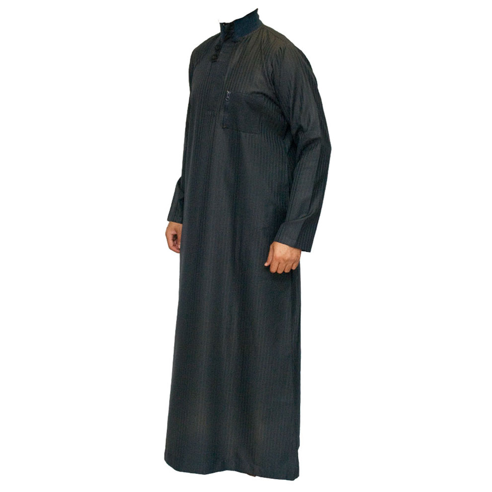 Navy Blue Double Loopy Muslim Jubbah Thobe