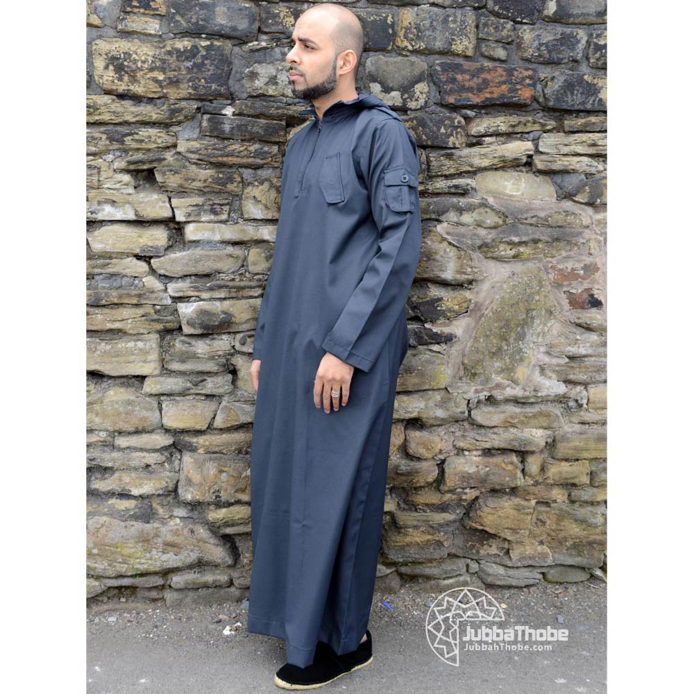Navy Blue Hooded Urban Jubba Thobe