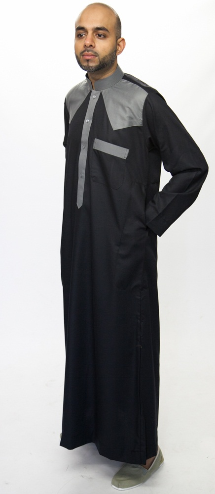 Navy Blue New Juyubsh Jubba Thobe
