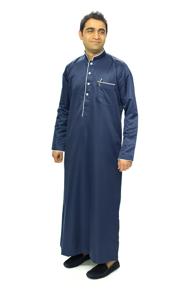Nevy Blue New Mens Pipping Coller Jubba