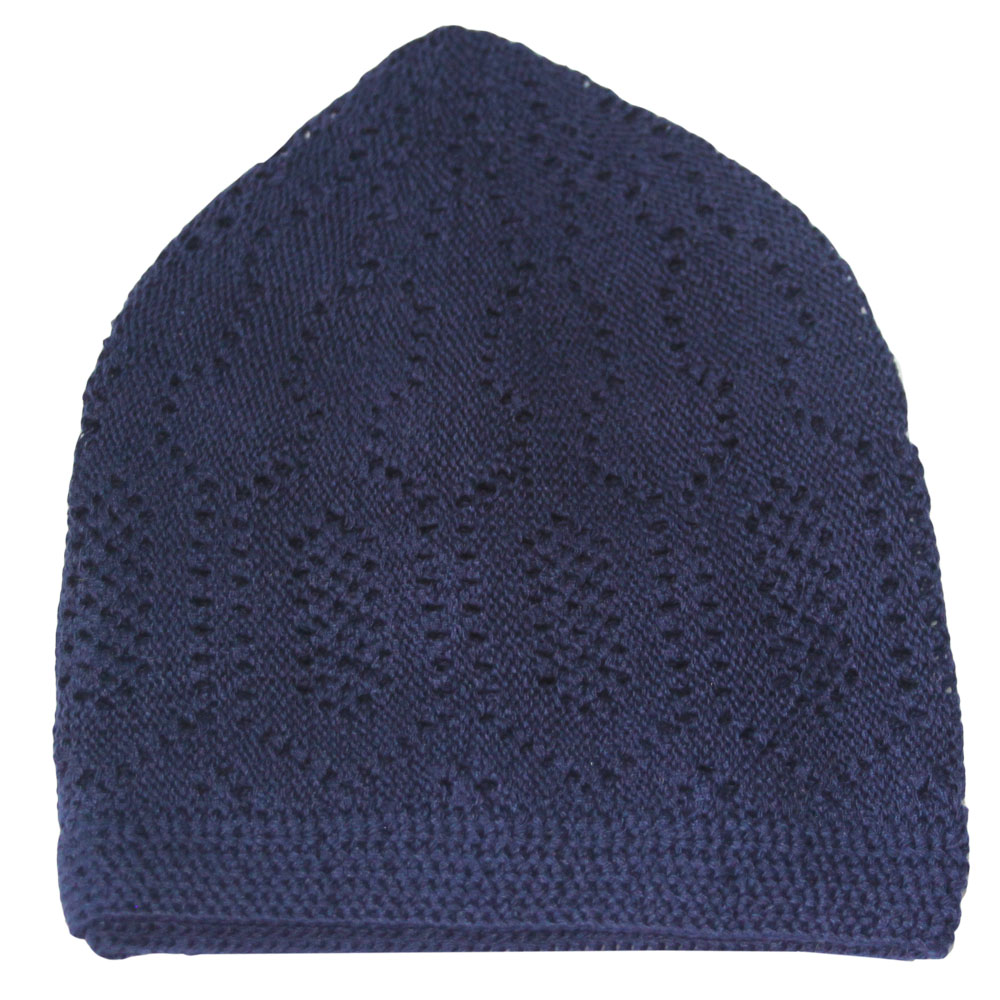 Navy Blue Merccan Prayer Hat