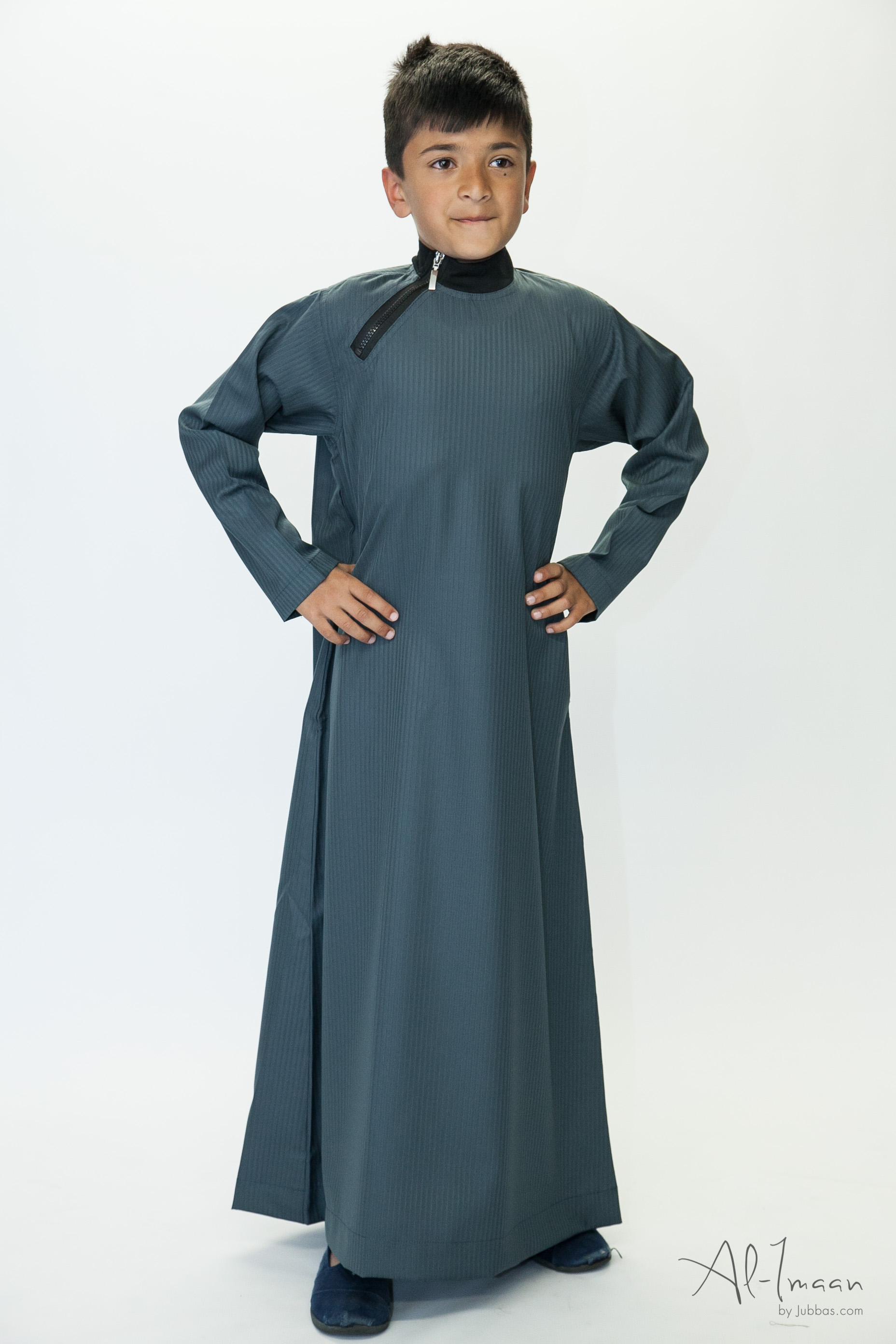 Boys Side Zip Nevy Blue Jubba