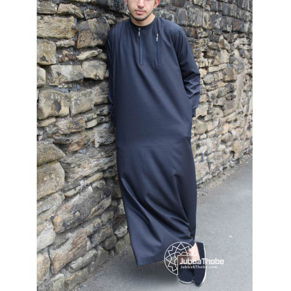 Navy Blue Urban Zipped Jubba