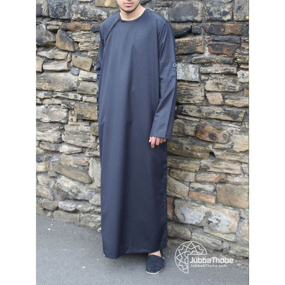 Navy Blue Roll Down Jubba