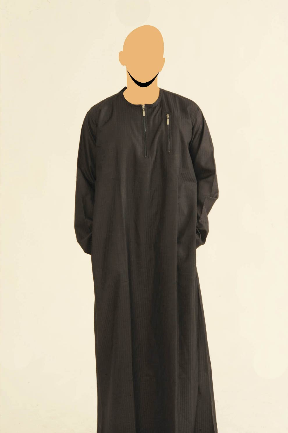 Navy Ibiza Double Zip Jubba
