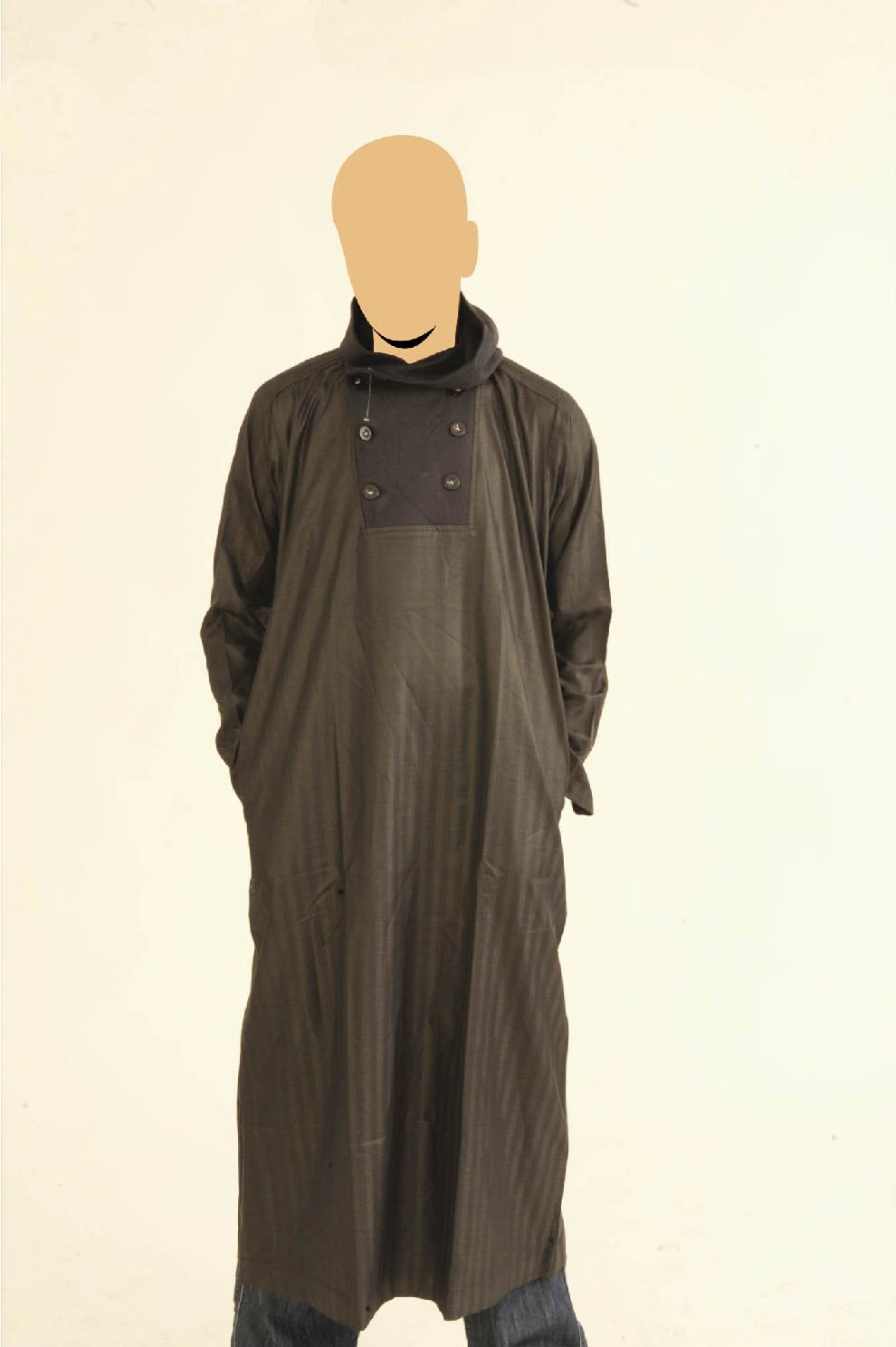 Navy Recolite Hooded Jubba