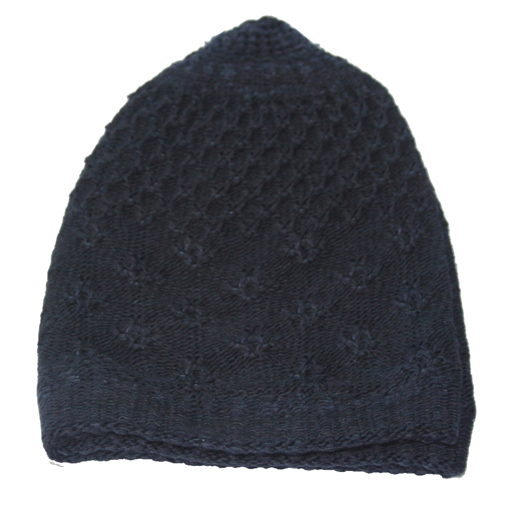 Nevy Blue Warm Prayer Hat