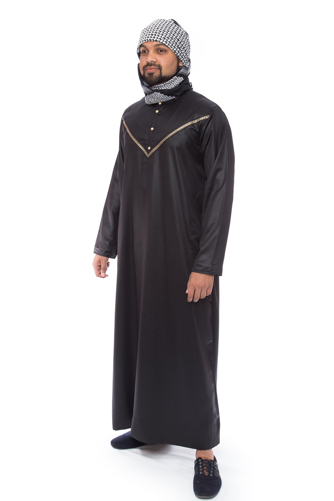 Omani Black New Mens Jubba