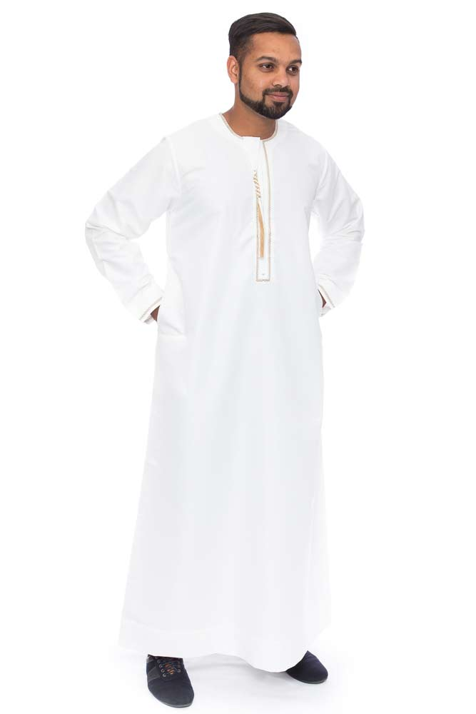Omaani Qatari New Cream Jubba