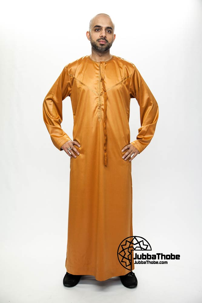 Orange New Omani Mens Jubba Thobe