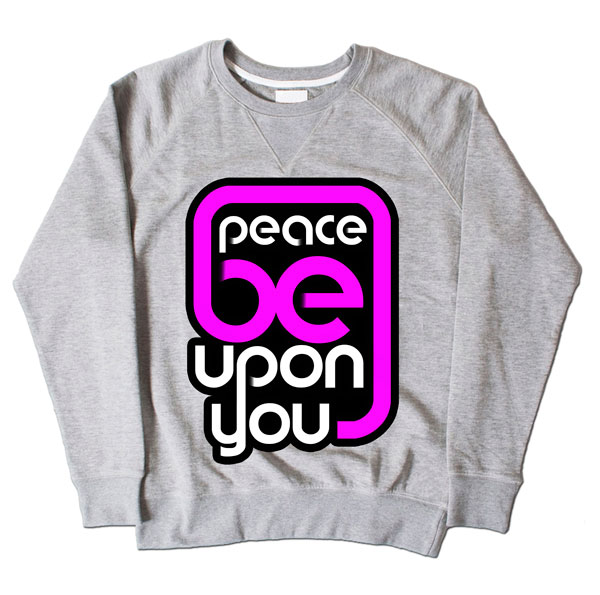Peace Be Upon Grey Sweatshirt