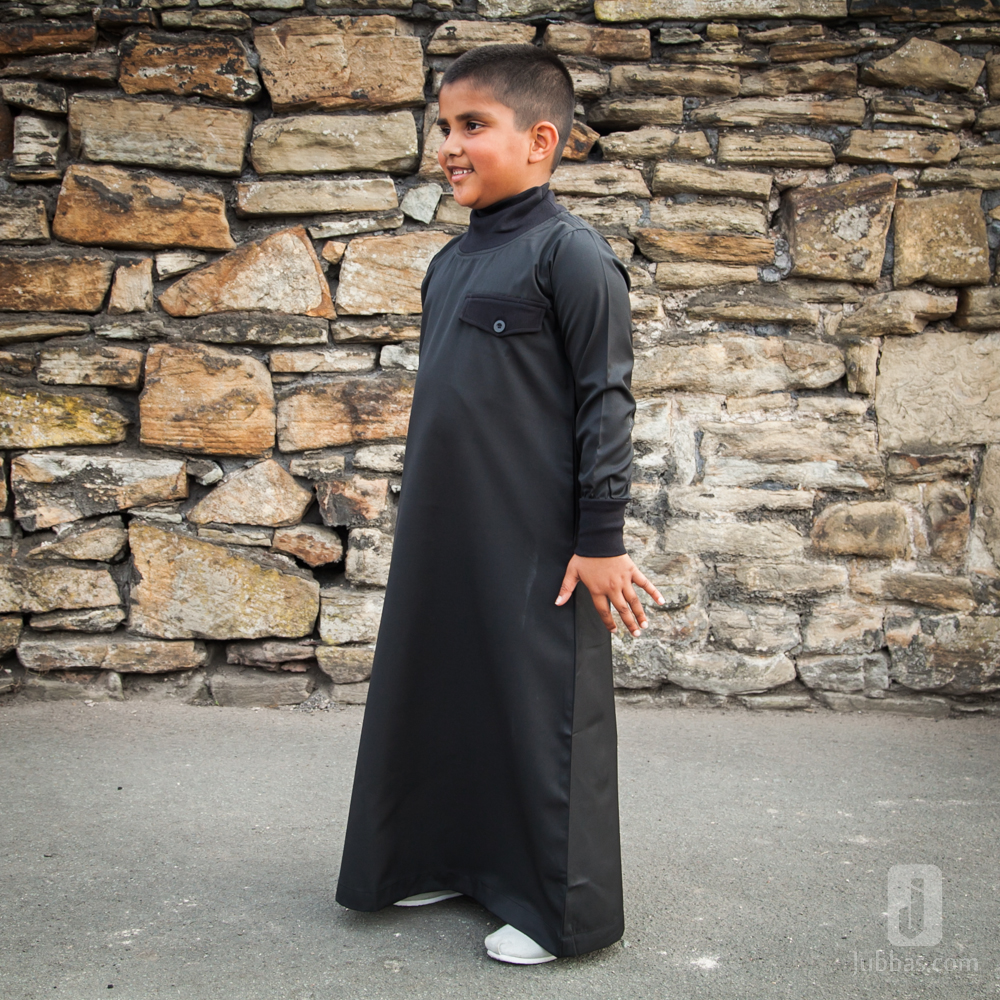Black Polo Neck Children Jubba