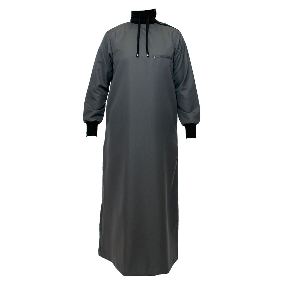 Polo Neck Charcoal Grey Jubba Thobe