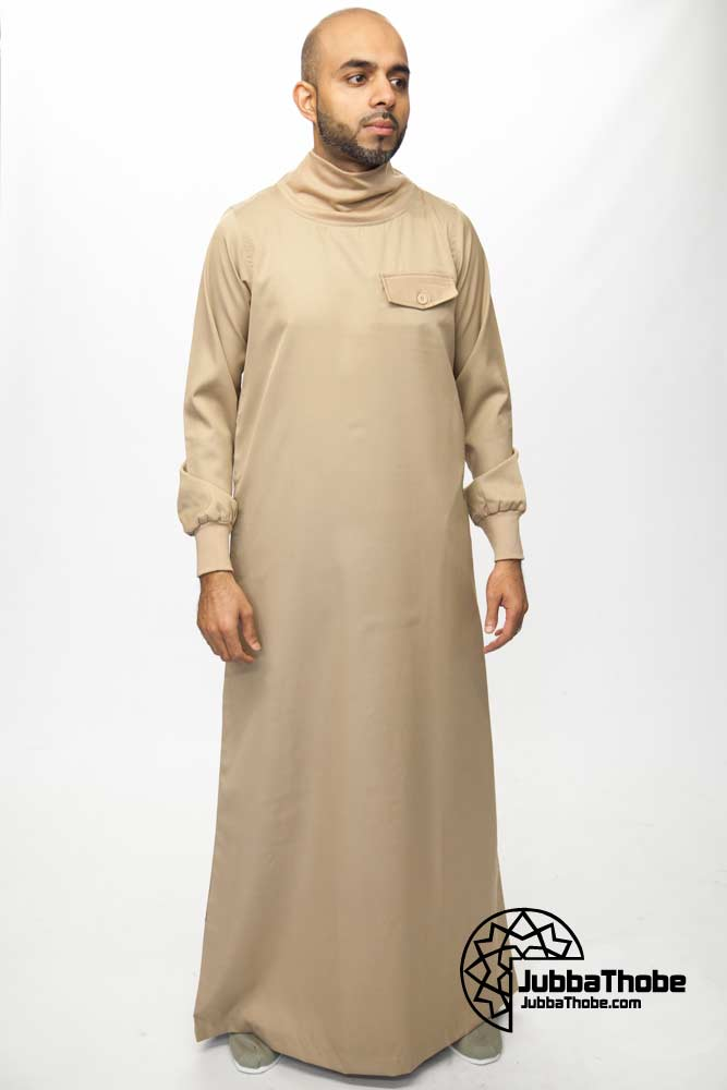 Polo Neck New Mens Beige Jubba