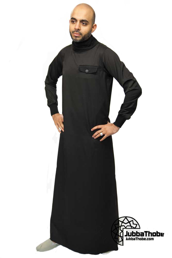 Polo Neck New Mens Black Jubba