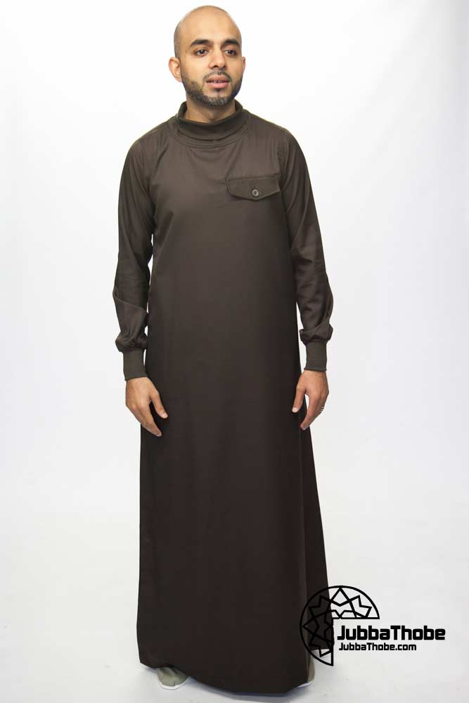 Polo Neck New Mens Brown Jubba