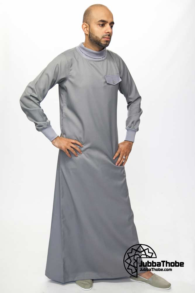 Polo Neck New Mens Grey Jubba