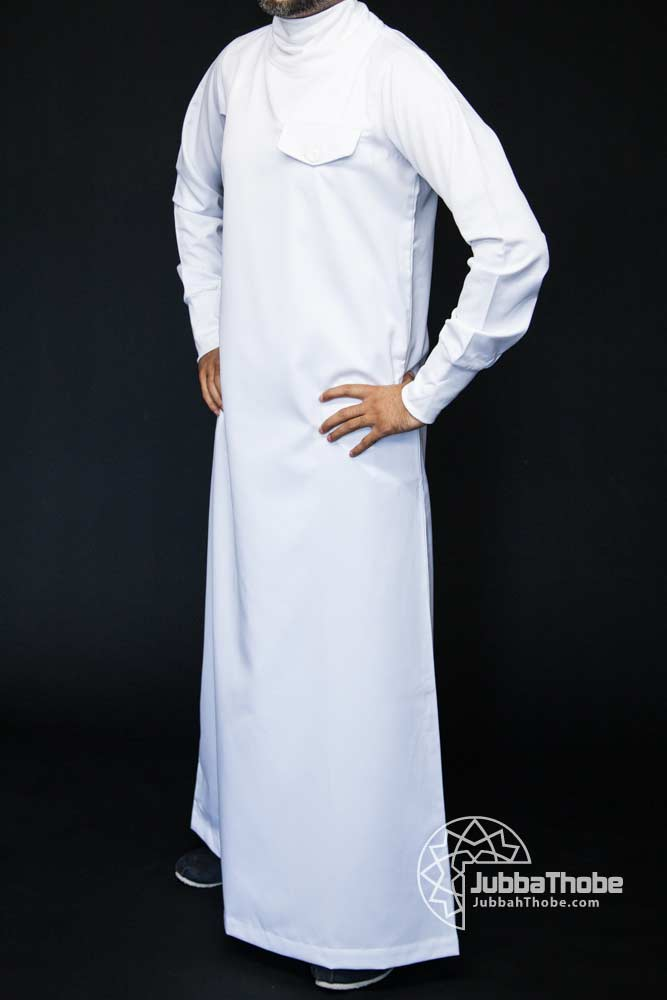 Polo Neck New Mens White Jubba