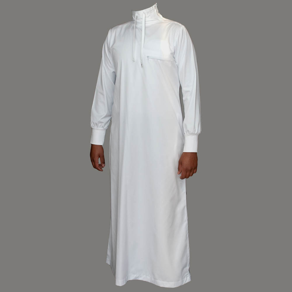 Polo Neck White Jubba Thobe