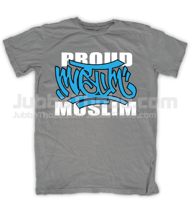 Proud Muslim Graffity Grey Tee