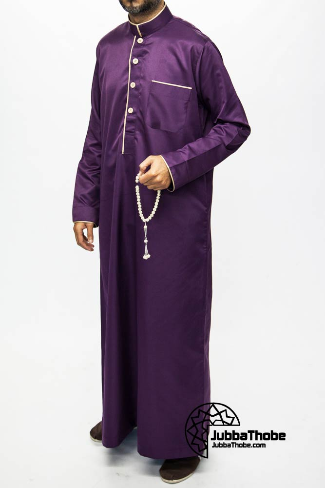Purple Mens Pipping Jubba