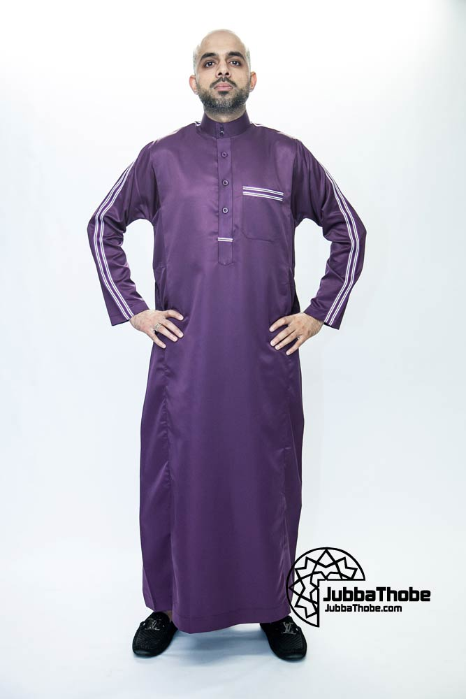 Purple New Jersey Muslim Jubba Thobe