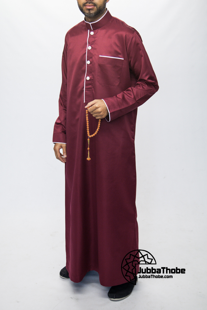 Red Mens Pipping Jubba