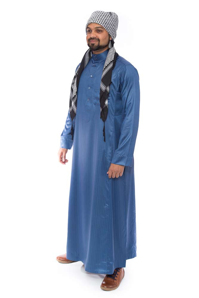 Blue Stripped Shiny Jubba