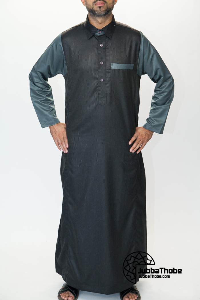 Shirt Collar Black Jubbah