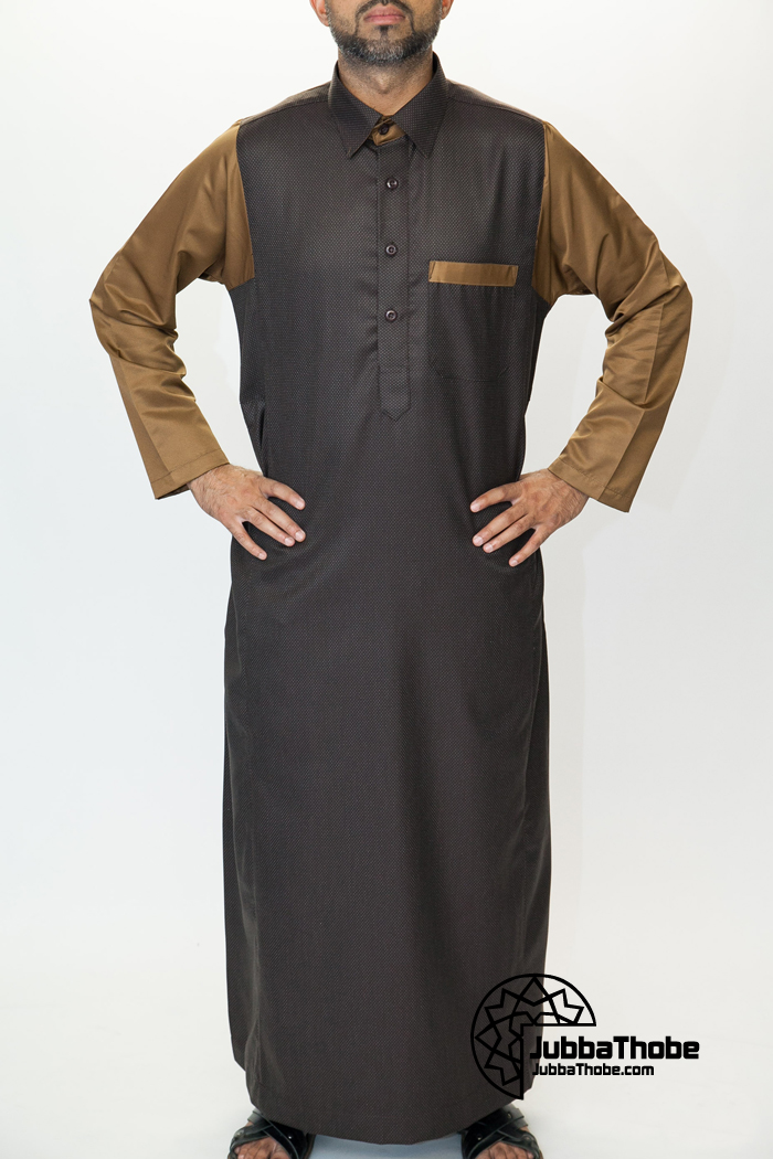 Shirt Collar Brown Jubbah