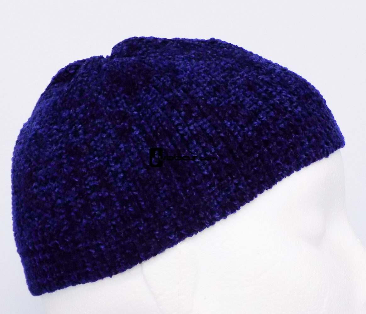 Navy Blue Soft Prayer Hat