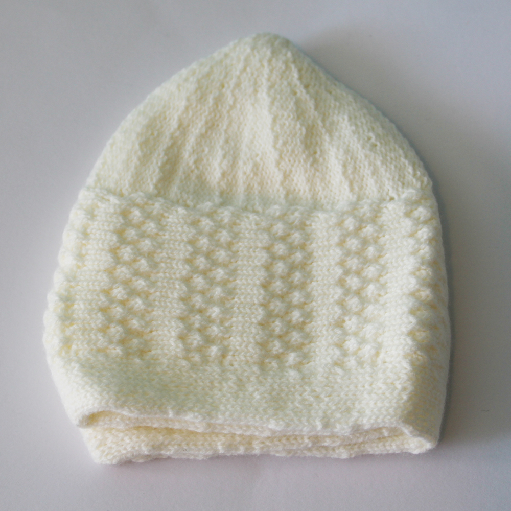 Cream Winter Prayer Cap