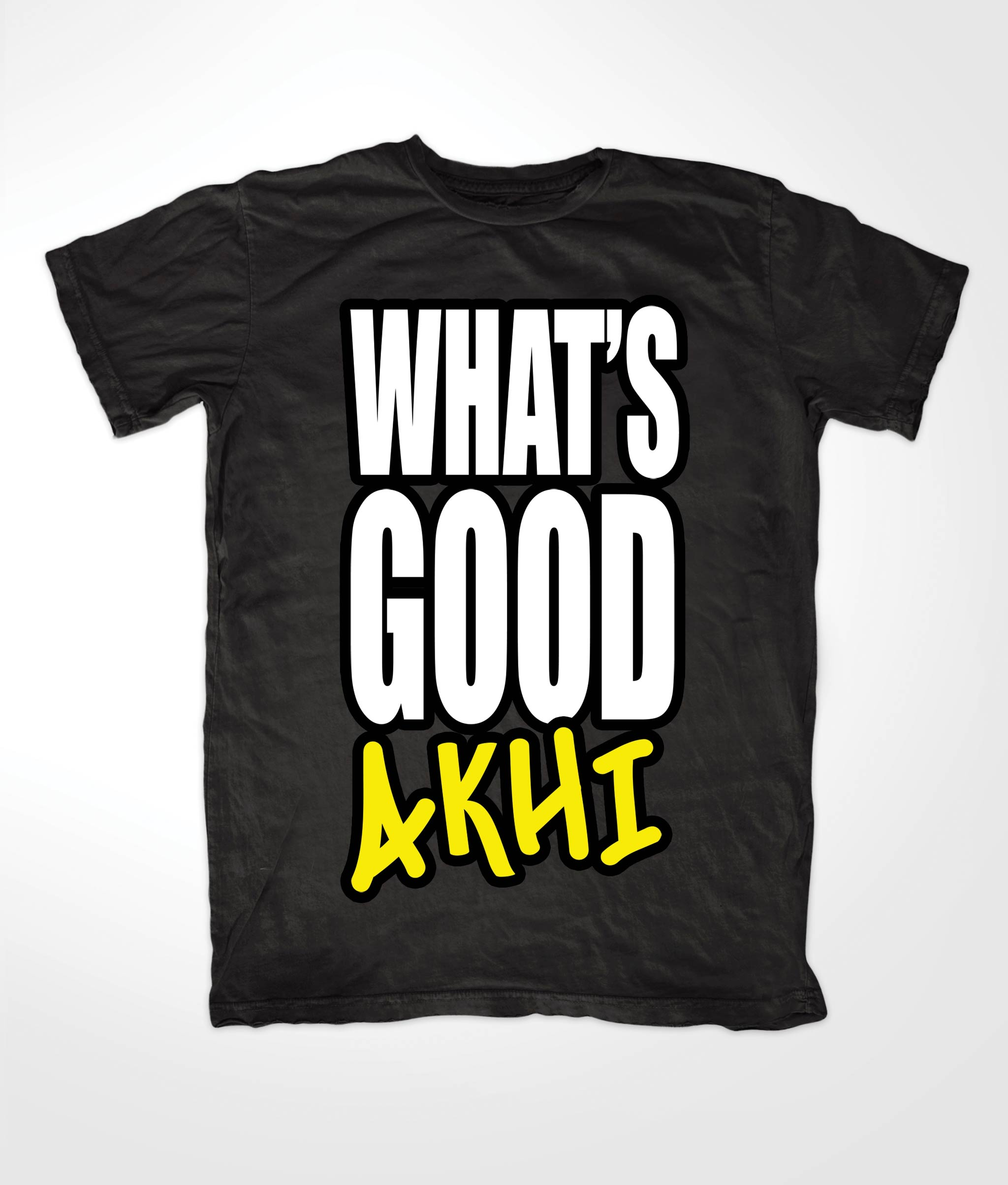 Whats Good Akhi Muslim Black T shirt