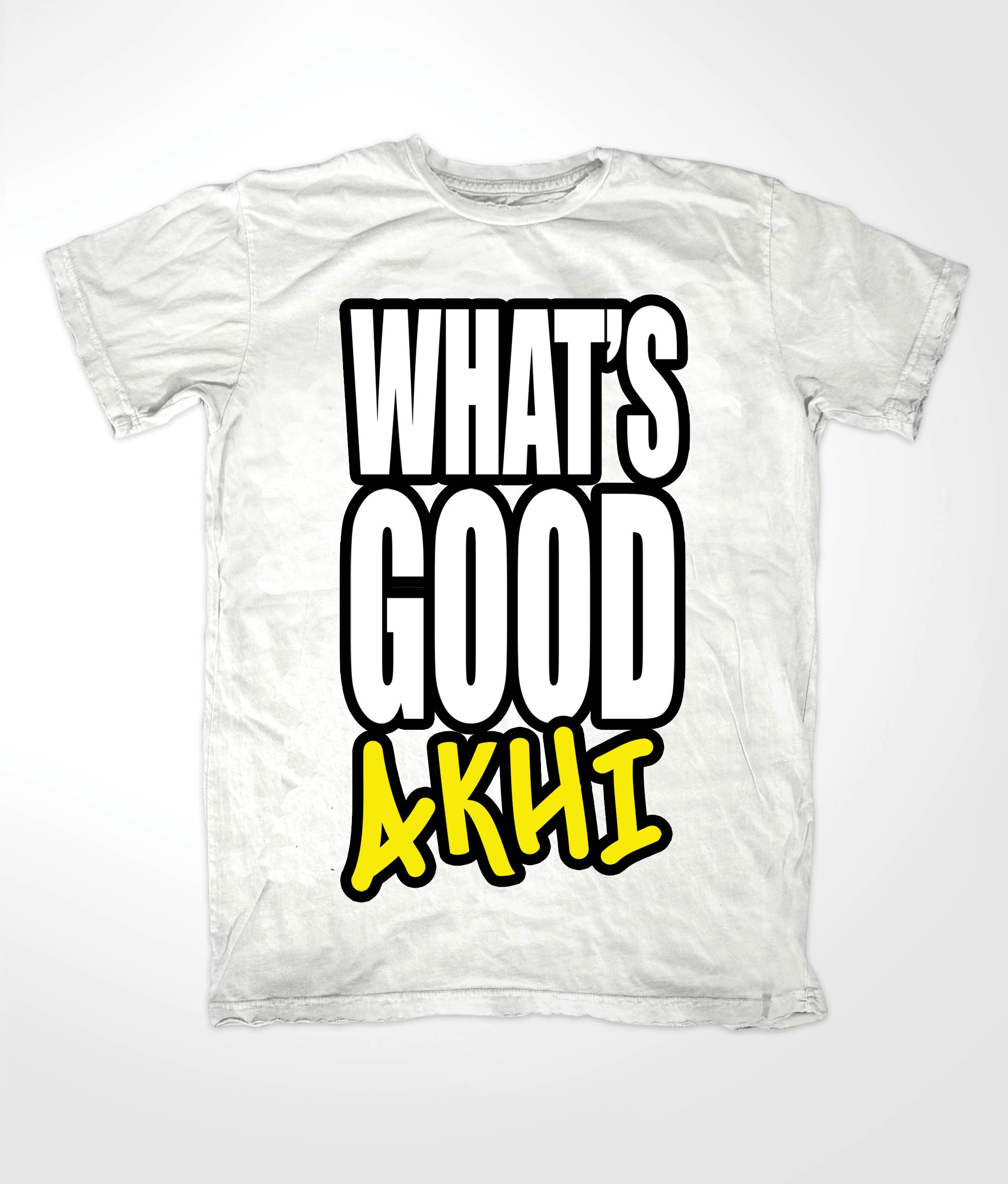 Whats Good Akhi Muslim White T shirt