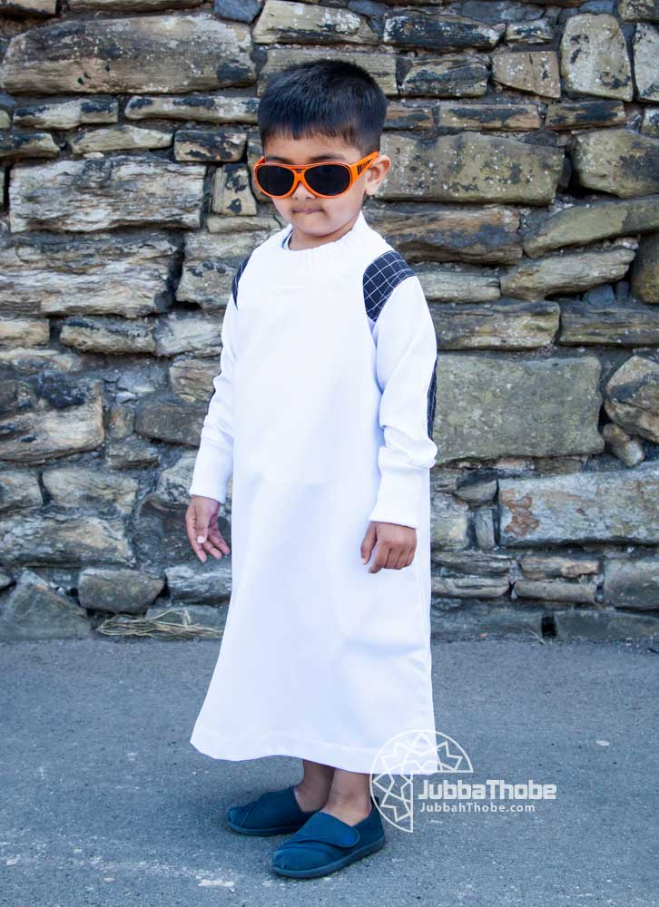 White Arm Patch Toddler Jubba
