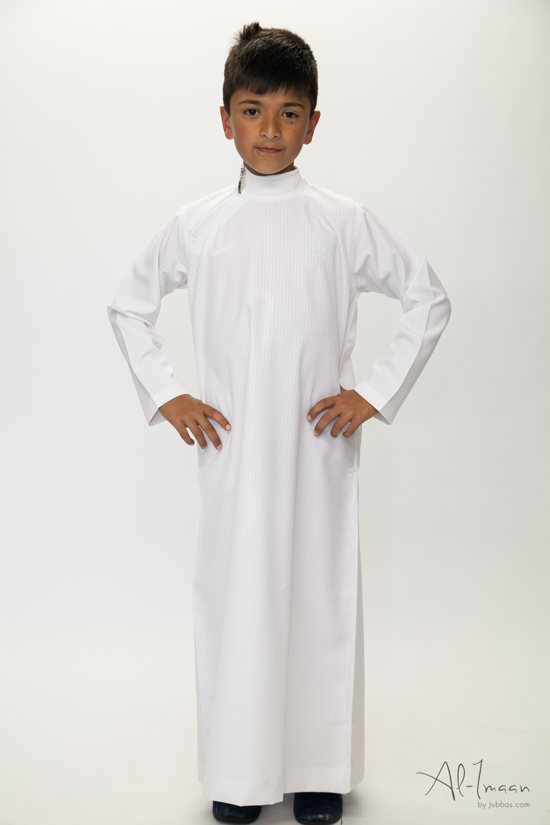 Boys Side Zip White Jubba