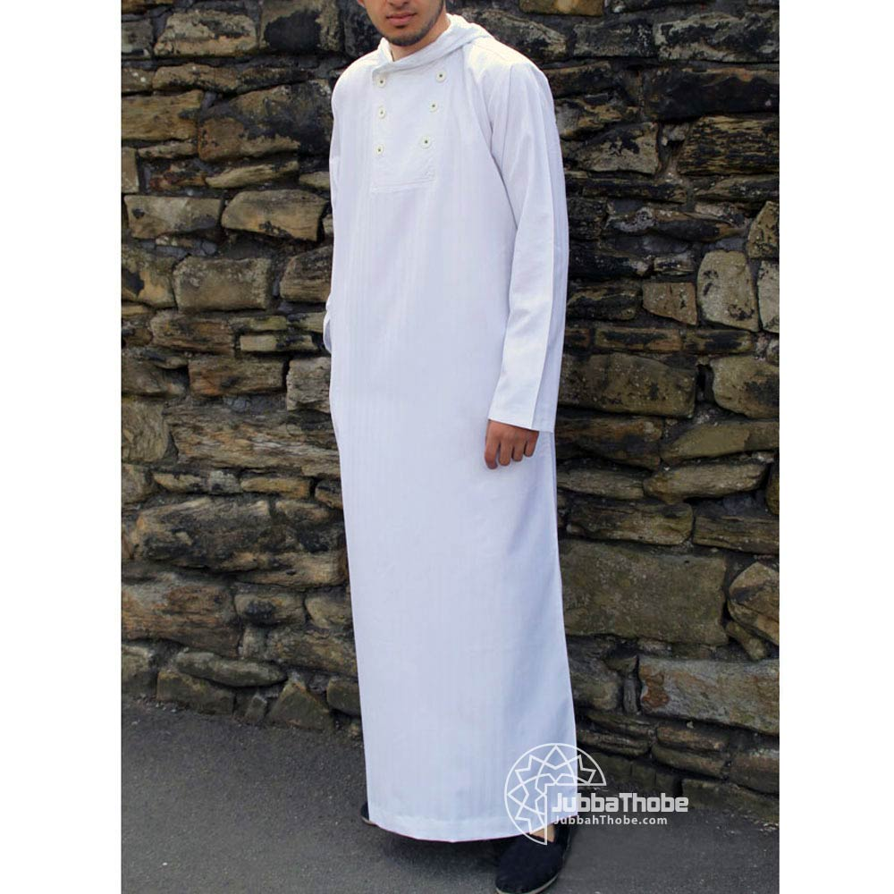 White Buttoned Jubbah