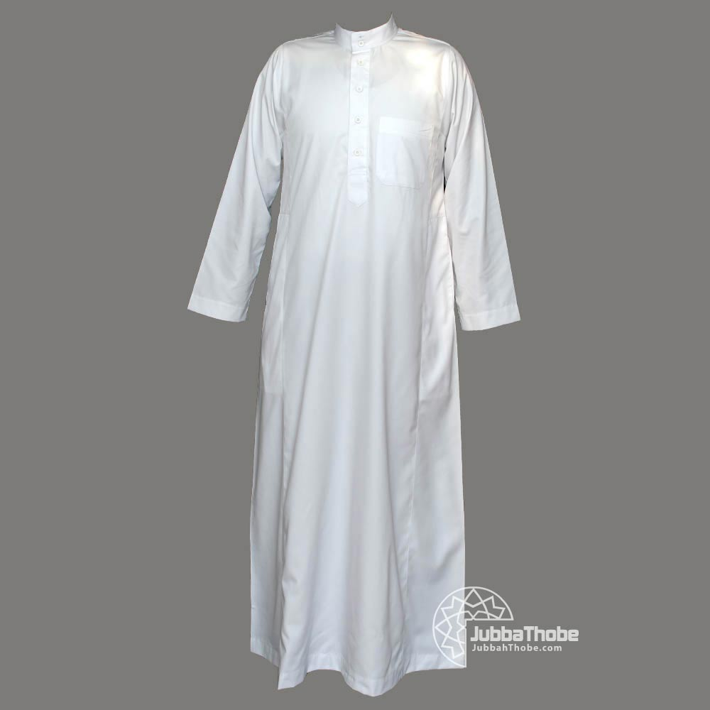 White Collar Mens Jubba Thobe