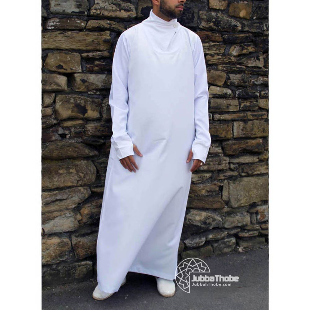 White Cowel Neck Jubbah