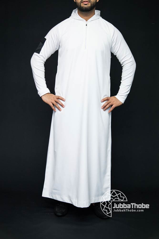 White Hooded New Mens Jubbah Thobe