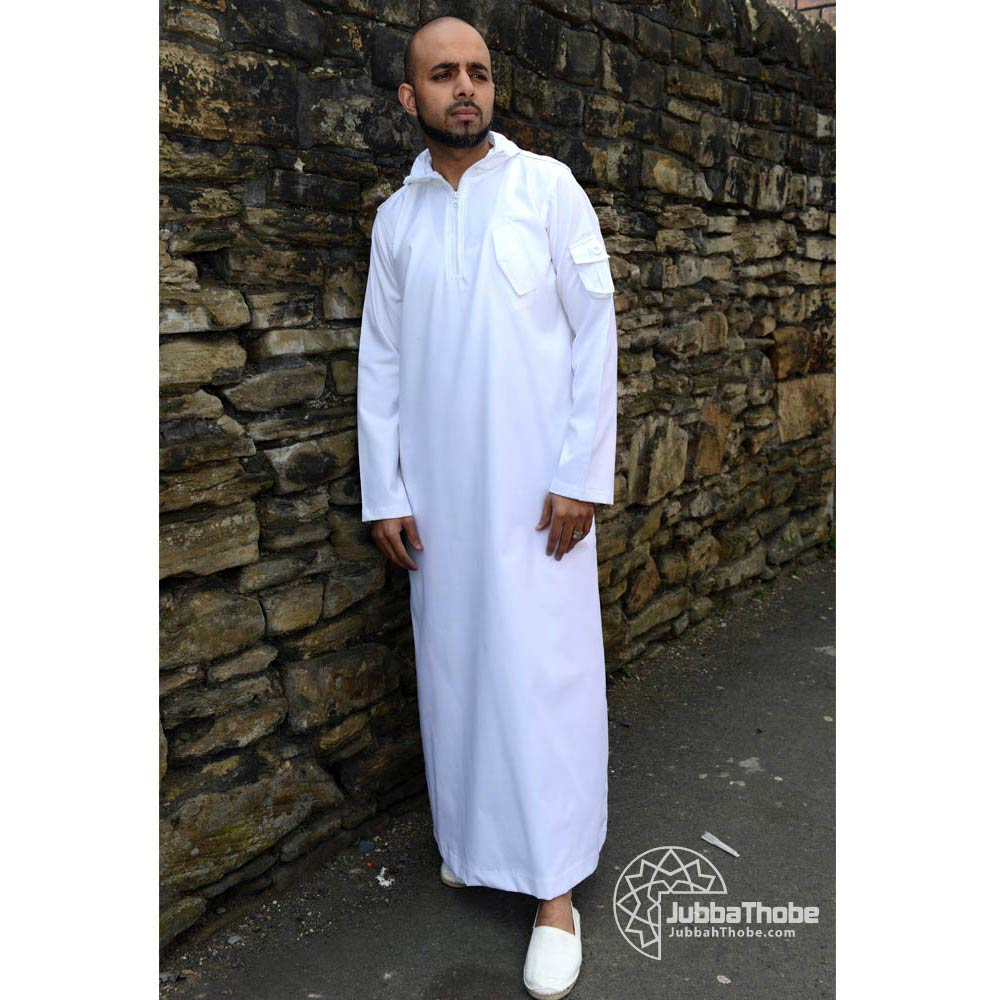 White Hooded Urban Jubba Thobe