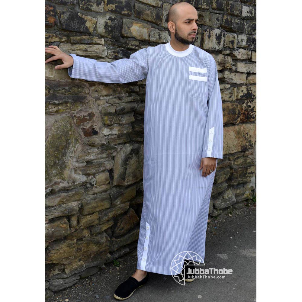 White Mens Islamic Jubbah Thobe
