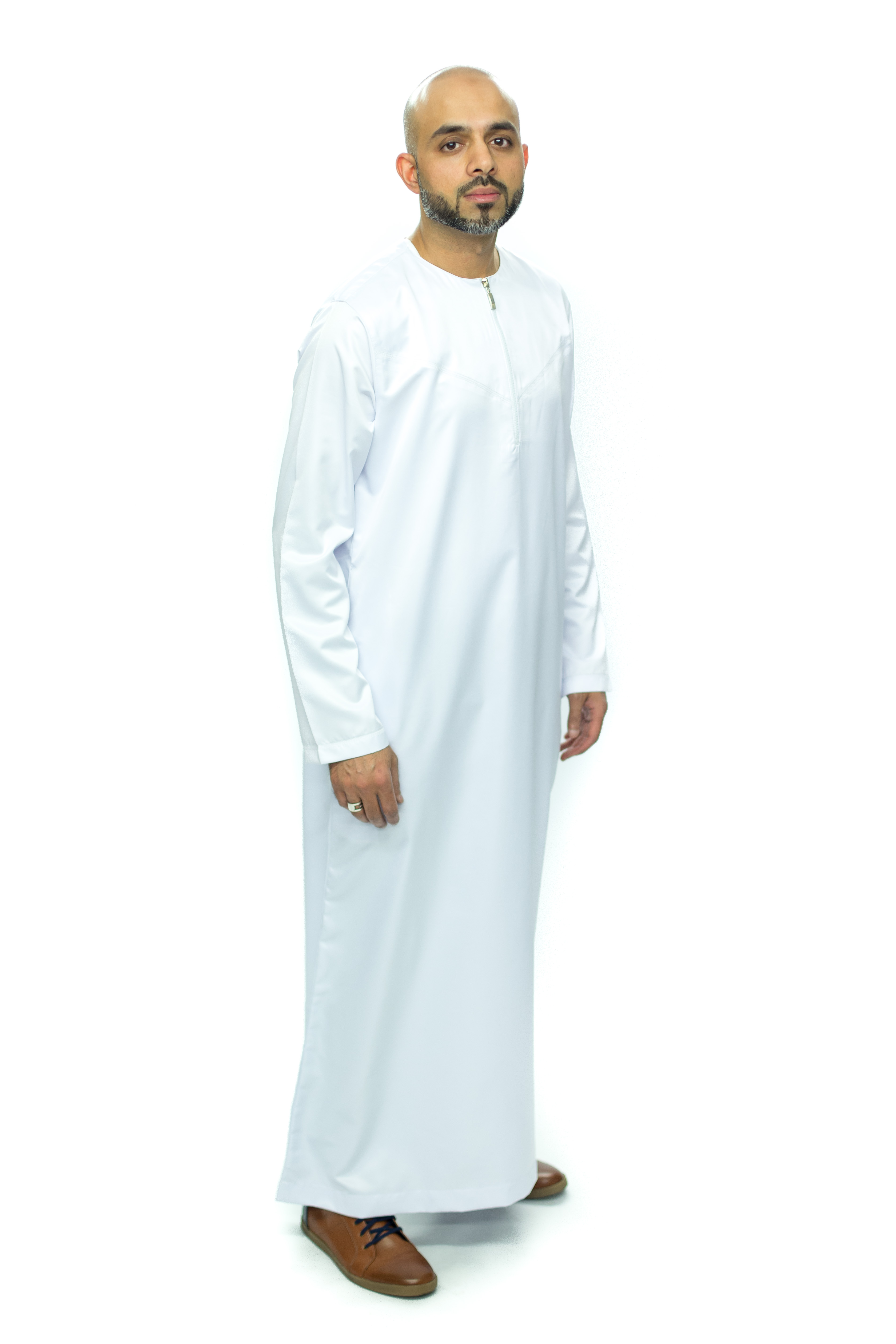 White New Shiny Omani  Jubbah