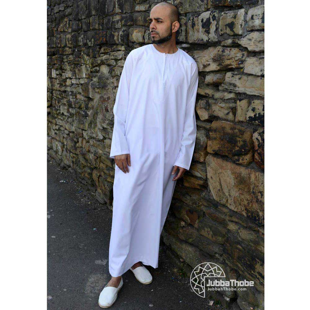 Omani-jubba mens thobe-jubbah size 52-62 cream//off white
